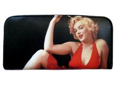 Marilyn Monroe Red Dress Blonde Card ID Holder Travel Zip Around Wallet Mr Handbag. $27.95