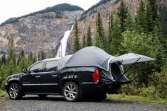 Sportz Avalanche Truck Tent $299.99 - Assembles in an open-bed Chevrolet Avalanche or Cadillac Escalade EXT, allowing you to camp anywhere. Napier's exclusive floor design protects you from the elements while making the tent easy to set-up & secure to your truck. It's perfect to keep behind the seat for any unexpected adventures.    https://ca.napieroutdoors.com/store/catalogue/details/1/1/product_id:21/