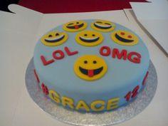 Emoji cake for 12th birthday