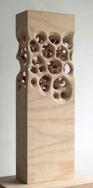 square and soft! Michael Kukla - laminated plywood sculpture that would make a great inspiration for a handbuilt clay work Abstract Sculpture, Wood Sculpture, Sculpture Images, Art Sculptures, Plywood Art, Plywood Design, Contemporary Sculpture, Contemporary Lamps, Wooden Art