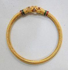 Vintage Copper 22K Gold Covered Bracelet or Bangle Enamel Work India BB ECL | eBay