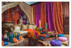 Moroccan Inspired Sangeet Decor | Wedding Photographer