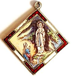 Our Lady Of Assumption Charm On A 7 1//2 Inch Round Double Loop Bangle Bracelet
