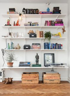 6 Best Tips AND Tricks: Floating Shelves Living Room With Mirror how to make a floating shelf kitchens.Floating Shelves Living Room Wooden floating shelf over tv bookshelves.Floating Shelves Different Sizes Home. White Shelves, Floating Shelves, Wall Mounted Bookshelves, Ceiling Shelves, White Bookshelves, Fireplace Bookshelves, Billy Bookcases, Wall Mounted Shelves, Mounted Tv