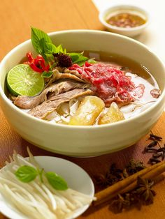 Traditional Vietnamese Beef Pho, or Noodle - Visit asiaexpatguides.com to make the most of your experience in Vietnam!