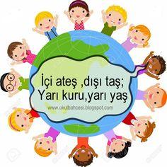 #bilmece #bilmeceler #okulöncesi #ilkokul #anasınıfı #resimlibilmece #dünya #okul #çocuk Riddles, Pre School, Kids And Parenting, Children, Poster, Character, Young Children, Boys, Puzzle