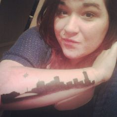 My new tattoo! The skyline of New Orleans.