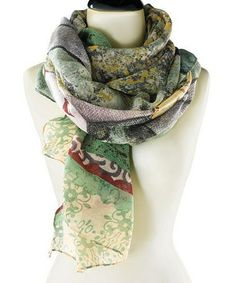 Another great find on #zulily! Green & Yellow Dream Big Scarf by Kelly Rae Roberts #zulilyfinds