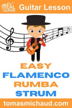 Flamenco music is all about the feel and the rhythm of the song. In this guitar lesson, you will learn an easy version of a strum called a Rumba strum. There are a lot of variations to this Flamenco strum. While it might sound complicated, it is pretty simple. You will learn step-by-step how to play this stylish strumming pattern. You won't need your pick for this guitar lesson because we're using a thumb and index finger technique. #flamencoguitar #spanishguitar #learnguitar Flamenco Guitar Lessons, Acoustic Guitar Lessons, Guitar Tips, How Its Going, Going To Work, Guitar Online, Guitar Lessons For Beginners, Learn To Play Guitar, Learn Spanish