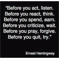 Wise words in a cruel world :)!