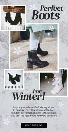 Maybe you've heard (lol): during winter, in Canada, it's cold and snowy! We have to adapt our fashion choices to the climate, and pick the right boots for every occasion! Here is a topo of the prettiest (and warm) boots of the season, for any occasion and style! #boots #winteraccessories #winterlooks #winteroutfits #shoes #wintertrends