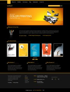 my work graphic design company portfolio web template