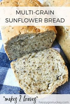 On Waiting Well (and a recipe for Multi-Grain Sunflower Bread.) On Waiting Well (and a recipe for Multi-Grain Sunflower Bread. Sandwich Bread Recipes, Bread Maker Recipes, Healthy Bread Recipes, Cooking Recipes, Healthy Homemade Bread, Homemade Sandwich Bread, Homemade Breads, Banana Bread Recipes, Cooking Tips