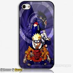 Naruto And Sasuke Anime Custom iPhone 5 Hard Case Cover