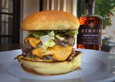 Impress dad this Father's Day by making Beast's Ultimate Maple Whisky Turkey Burger! Chef Scott Vivian created this two-patty tower, which features the perfect combo of ground turkey, melted cheese, caramelized onions, ballpark mustard, shredded lettuce and an epic secret ingredient: maple whisky mayo made with Kinsip award-winning maple whisky. Best Turkey Burgers, Turkey Burger Recipes, Maple Whiskey, Turkey Patties, Mediterranean Diet Meal Plan, Best Burger Recipe, Whisky, Iron Chef, Delicious Burgers