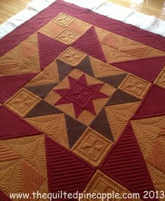 love these colors!  THE QUILTED PINEAPPLE: Quilting Eye Candy