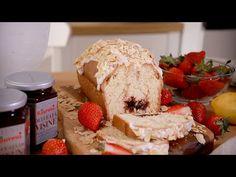 Chec cu dulceață, glazură de lămâie și migdale | Bucătar Maniac My Recipes, Bread, Food, Brot, Essen, Baking, Meals, Breads, Buns