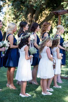 Bridesmaids Flower Girls Outdoor Ceremony   Wilson-Vineyard-Clarksburg-California-Wedding-Photographer-TréCreative