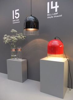 Ring Vase and Bell Lamp at Discipline in Milan. #salonedelmobile #milan2012