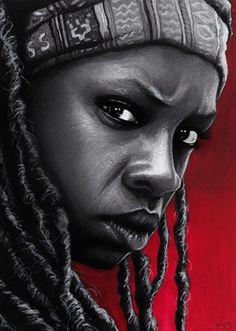 The Walking Dead - Michonne by Trev--Murphy on DeviantArt