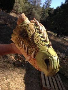 My dad is awesome. Large DRAGON HEAD Wood Carving OOAK Hand Carved & by RCWaitsArt, $300.00