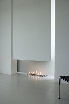 Minimalist White Fireplace