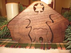 wooden nativity puzzle by Teaberrywoodproducts on Etsy, $29.00