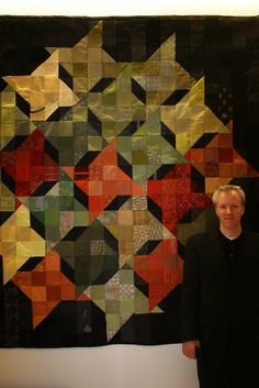 """Milky Way"" quilt by C3 Needlework: 2009 IIDI Sustainable Quilt Auction.  Quilt made from discontinued fabric samples"