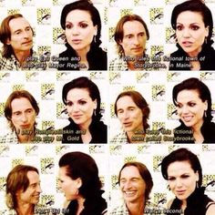 Robert & Lana (so funny together). Ouat once upon a time Best Tv Shows, Best Shows Ever, Favorite Tv Shows, Movies And Tv Shows, Once Upon A Time Funny, Once Up A Time, Ouat Cast, Between Two Worlds, Robert Carlyle