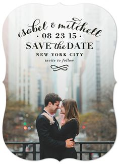 """""""Classic Romance"""" Save the Date Card by Hooray Creative for minted.com"""