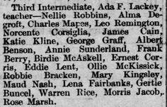 Reno Gazette-Journal, 6 Oct 1888, Sat, Main Edition  Gertrude Buncel (Gertie) makes honor roll