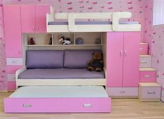 Comfy Kids Bedroom Ideas For Small Rooms - Page 7 of 53 Small Room Design, Kids Room Design, Bed Design, Bedroom For Girls Kids, Kid Bedrooms, Bedroom Furniture, Bedroom Decor, Bedroom Storage, Kids Bunk Beds