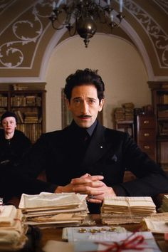 In Case You Forgot: 13 Places You've Seen Adrien Brody Before His Stint on Peaky Blinders Wes Anderson Poster, Wes Anderson Style, Wes Anderson Characters, Wes Anderson Movies, Grand Budapest Hotel Cast, Moustaches, Hotel Meeting, Adrien Brody, Fantastic Mr Fox