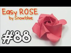 Origami ROSE EASY origami - Yakomoga Origami tutorial - YouTube