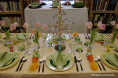 Image detail for -... of Spring with a Delightful Easter Table Setting | Napkin Wizard