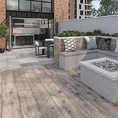 Wickes Sandwood Oak Outdoor Porcelain Tile 1200 x Outdoor Wood Tiles, Outdoor Porcelain Tile, Outdoor Flooring, Outdoor Pavers, Wood Patio, Indoor Outdoor, Garden Tiles, Patio Tiles, Garden Paving