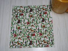 Christmas Cloth Napkins Tin Soldiers Stockings Beverage Cocktail Lunchbox Set of 6 Christmas Cloth Napkins, Christmas Wine Bottles, Beverage Napkins, Bottle Bag, Christmas Tablescapes, Dinner Napkins, White Beige, Beautiful Christmas, Coaster Set