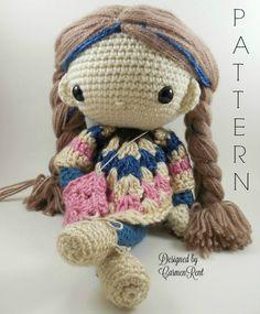 Paulina Amigurumi Doll Crochet Pattern PDF por CarmenRent en Etsy