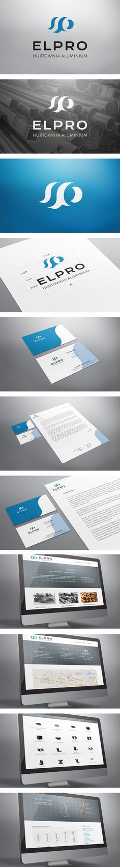Corporate Identity for ELPRO company. Project included brand new logo and cohesive print and web design: business cards, letterhead and website.