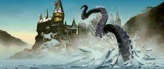 Great Octopus at Hogwarts Harry Potter Art