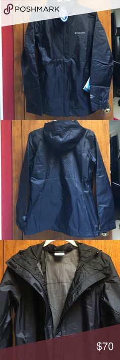NWT Columbia Omni-Tech Jacket NWT, never worn.  Super lightweight and breathable, hood is not removable. Columbia Jackets & Coats