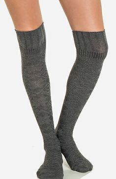I love over the knee socks because you can wear them with over the knee boots, calf boots, or ankle booties!