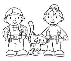 Byggmester Bob Fargelegging for barn. Tegninger for utskrift og fargelegging nº 49