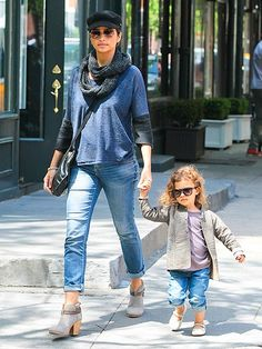 It's clear that 3-year-old Vida McConaughey gets her fashion sense from mom Camila as the two go shopping together Sunday in New York City's West Village.