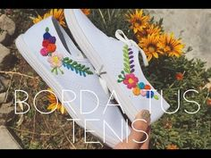 Embroidery Stitches, Hand Embroidery, Embroidery Sneakers, Diy Tutorial, Diy Clothes, Diy Fashion, Sewing Crafts, Needlework, Diy And Crafts