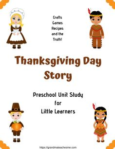 Fall and Thanksgiving crafts are a lot of fun. Enjoy making these crafts with your preschooler this season and make some memories, too! True Story Of Thanksgiving, Thanksgiving Crafts, Preschool Workbooks, Little Learners, Pre School, Learning Activities, Homeschool, Study, The Unit