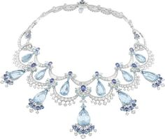 "Aquamarine, Diamond, Tourmaline, Sapphire and White Gold ""Colour Of Time"" Necklace by Van Cleef and Arpels Peau d'Âne Collection. This Stunning Necklace Contains 129.87 CTW Of Precious Gemstones"