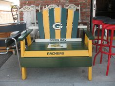 green bay packers chair egg garden morrisons 918 best packer craft ideas images greenbay custom gear baby go football