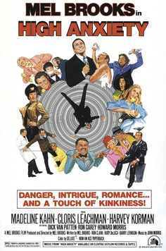 Directed by Mel Brooks. With Mel Brooks, Madeline Kahn, Cloris Leachman, Harvey Korman. Mel Brooks' parody of Alfred Hitchcock films. Madeline Kahn, Classic Movie Posters, Original Movie Posters, Classic Movies, Cinema Posters, Film Posters, Cinema Film, Love Movie, Movie Tv