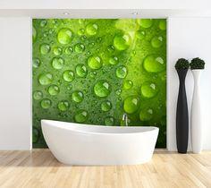 Krople rosy - idealny motyw do łazienki http://mural24.pl/konfiguracja-produktu/182760526/ #fototapeta #homedecor #aranżacjawnętrz #wystrójwnętrz